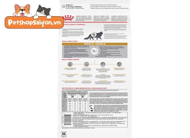 thức ăn cho mèo Royal Canin Urinary S/O