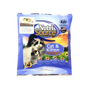 Thức Ăn Cho Mèo Giá Rẻ Nutri Source Gà, Cá Hồi Và Gan (142g)