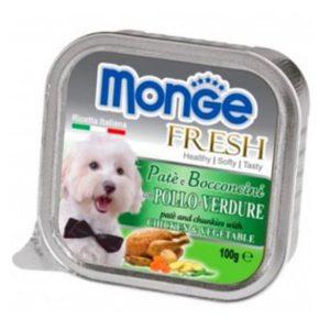 Pate Cho Chó Monge Fresh Gà Và Rau 100g