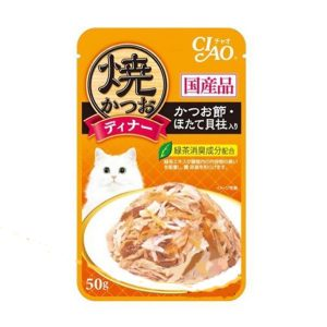 Pate Cho Mèo Ciao Cá Ngừ Nướng & Sò Điệp (50g)