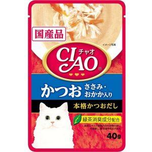 Pate Cho Mèo Ciao Cá Ngừ & Phi Lê Gà (40g)