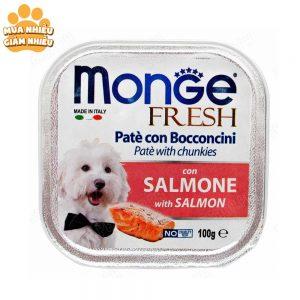 Pate Cho Chó Monge Fresh Cá Hồi 100g - Ý