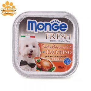 Pate Cho Chó Monge Fresh Gà Tây 100g - Ý