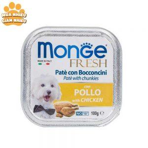 Pate Cho Chó Monge Fresh Thịt Gà 100g - Ý