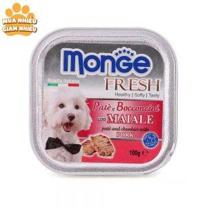 Pate Cho Chó Monge Fresh Thịt Heo 100g - Ý