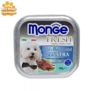 Pate Cho Chó Monge Fresh Thịt Vịt 100g - Ý