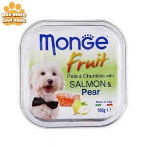 Pate Cho Chó Monge Fruit Cá Hồi Và Lê 100g - Ý