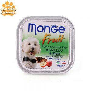 Pate Cho Chó Monge Fruit Cừu Và Táo 100g - Ý