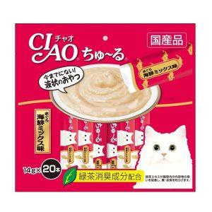 Pate Cho Mèo Ciao Churu Súp Cá Ngừ & Sò Điệp (14gx10)