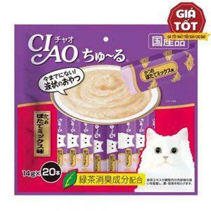 Pate Cho Mèo Ciao Churu Cá Ngừ & Sò Điệp (14gx20) - Hãng Nhật - Hàng Thái