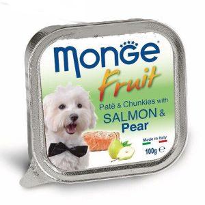 Pate Cho Chó Monge Fruit Cá Hồi Và Lê 100g