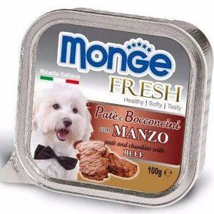 Pate Cho Chó Monge Fresh Thịt Bò 100g