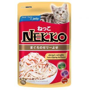 Pate cho mèo Jelly Nekko 70g - Vị cá ngừ rắc thanh cua