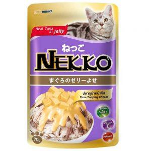 Pate cho mèo Jelly Nekko 70g - Vị cá ngừ rắc phô mai