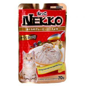 Pate cho mèo Gravy Nekko 70g - Vị cá ngừ rắc cá tráp