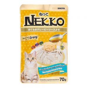 Pate cho mèo Gravy Nekko 70g - Vị cá ngừ rắc cá hồi