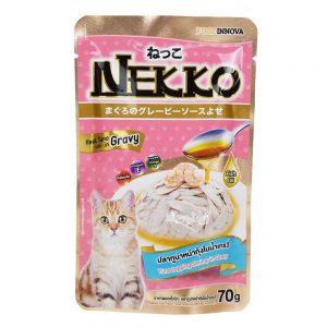 Pate cho mèo Gravy Nekko 70g - Vị cá ngừ rắc tôm
