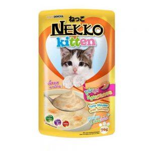 Pate cho mèo con Nekko 70g - Vị cá ngừ & cá hồi