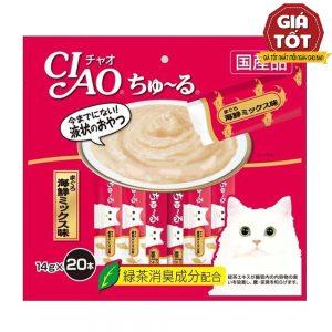 Pate Cho Mèo Ciao Churu Cá Ngừ (14gx20) - Hãng Nhật - Hàng Thái