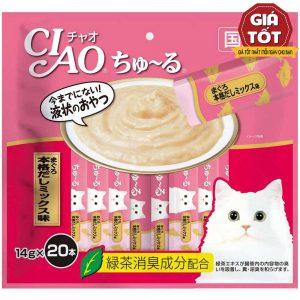 Pate Cho Mèo Ciao Churu Vị Súp Nhật (14gx20) - Hãng Nhật - Hàng Thái