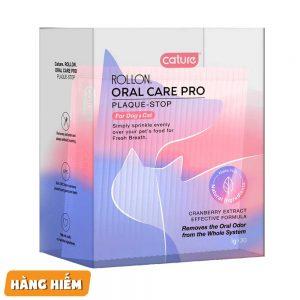 Bột rắc đồ ăn trị hôi miệng, cao răng chó mèo 1gx30 gói - Cature Oral Care Pro - Mỹ