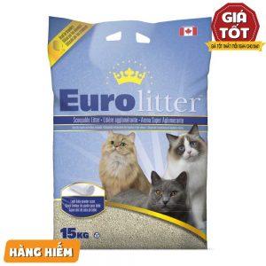 Cát vệ sinh Euro Litter Unscented 15kg - Không mùi - Canada