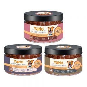 Bánh thưởng dạng xoắn YaHo cho chó 165g - Làm sạch răng