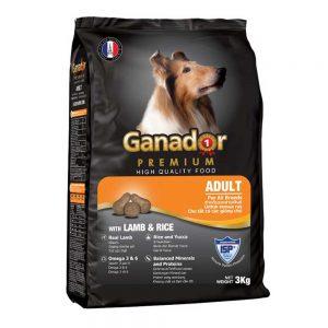 Thức ăn cho chó trưởng thành Ganador 3kg - Thịt cừu và gạo - Pháp