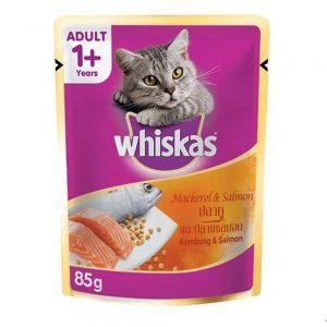 Pate cho mèo trưởng thành Whiskas 85g - Vị cá thu và cá hồi - Mỹ