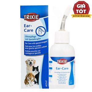 Dung dịch rửa tai trị viêm Trixie 50ml - Khử mùi hôi tai - Đức