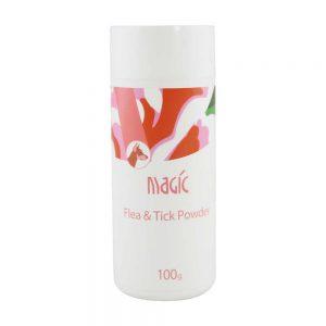 Bột tắm khô trị ve rận Magic 100g – Tinh chất cam cúc