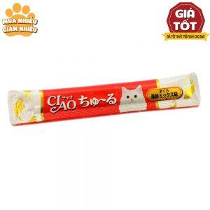 Pate cho mèo Ciao 14g - Thanh lẻ - Mix vị - Bổ sung vitamin - Thái