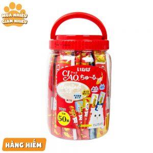 Pate cho mèo Ciao 14gx50 - Mix vị - Thái