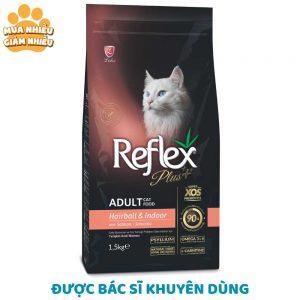 Thức ăn trị búi lông cho mèo Reflex Plus 1.5kg - Vị cá hồi - Thổ Nhĩ Kỳ