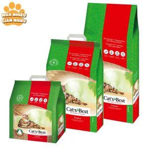 Cát gỗ hữu cơ cho mèo Cat's Best Original 10L - Khử mùi mạnh - Đức