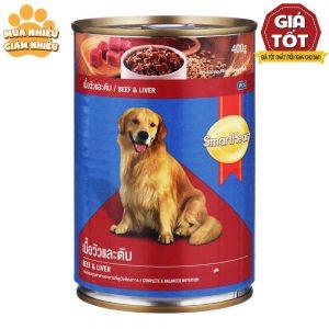 Pate lon cho chó Smartheart 400g - Cải thiện biếng ăn - Thái