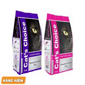 Cát vệ sinh mèo Cat's Choice 7.5kg - Hạt mịn, khử mùi mạnh - Ấn Độ