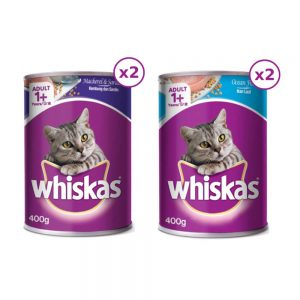 Pate lon cho mèo Whiskas 400g - Thái Lan