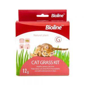 Bộ trồng cỏ mèo tươi Bioline 12g - Bổ sung chất xơ, giảm stress