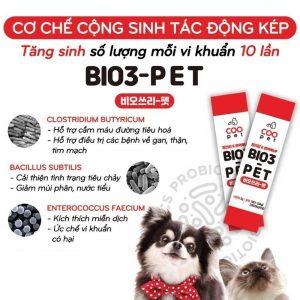 Men vi sinh tiêu hoá Bio3-Pet 2g - Gấp 10 lợi khuẩn - Hàn Quốc